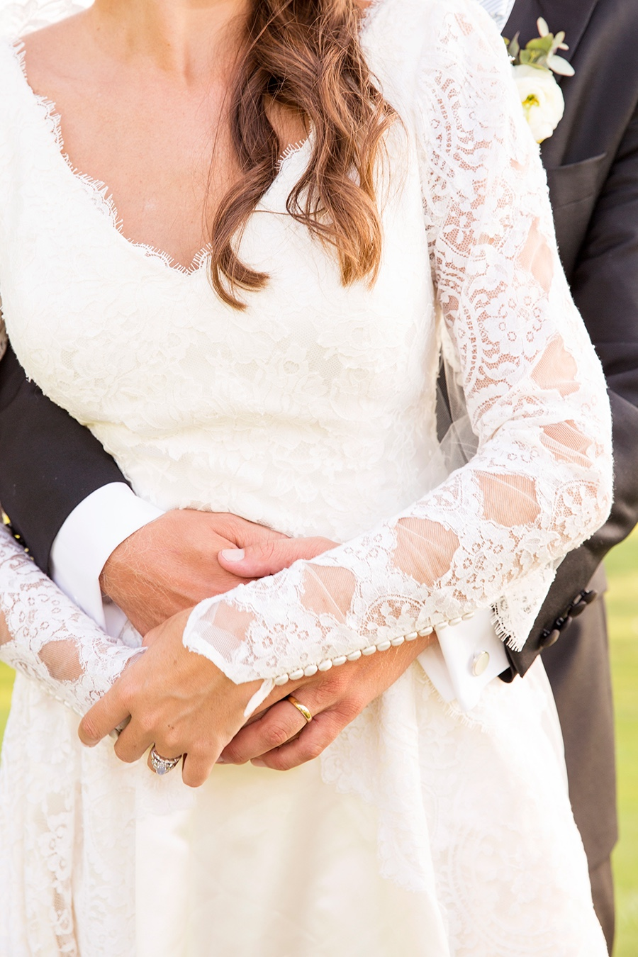 rebecca piersol traditional wedding lace sleeve detail