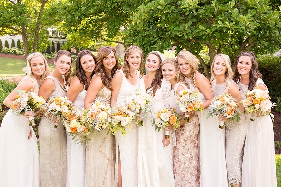 rebecca piersol traditional wedding bridesmaids