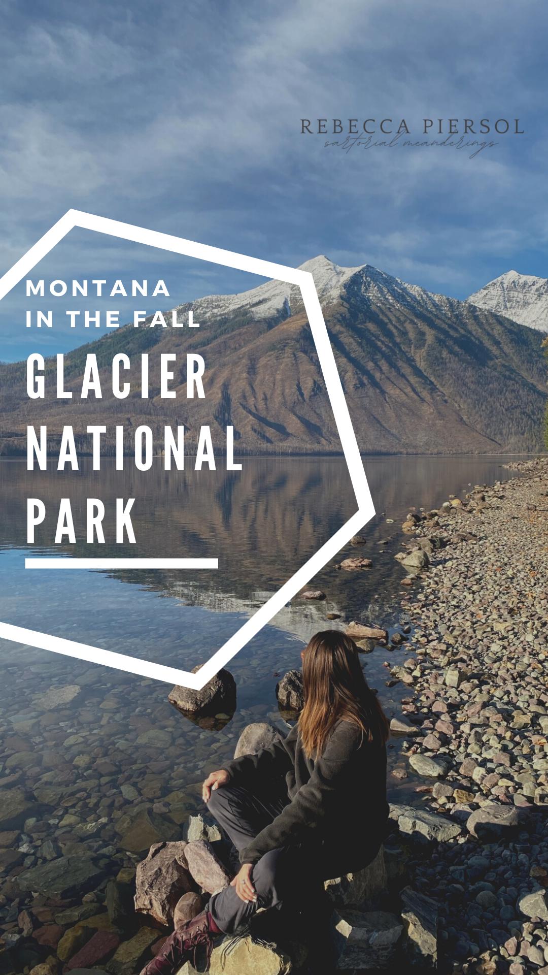 glacier in the fall